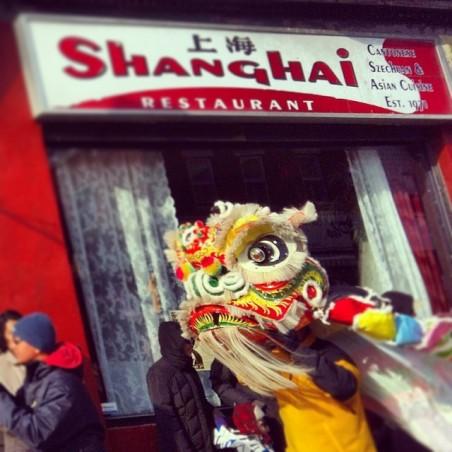 shanghai chinese lion
