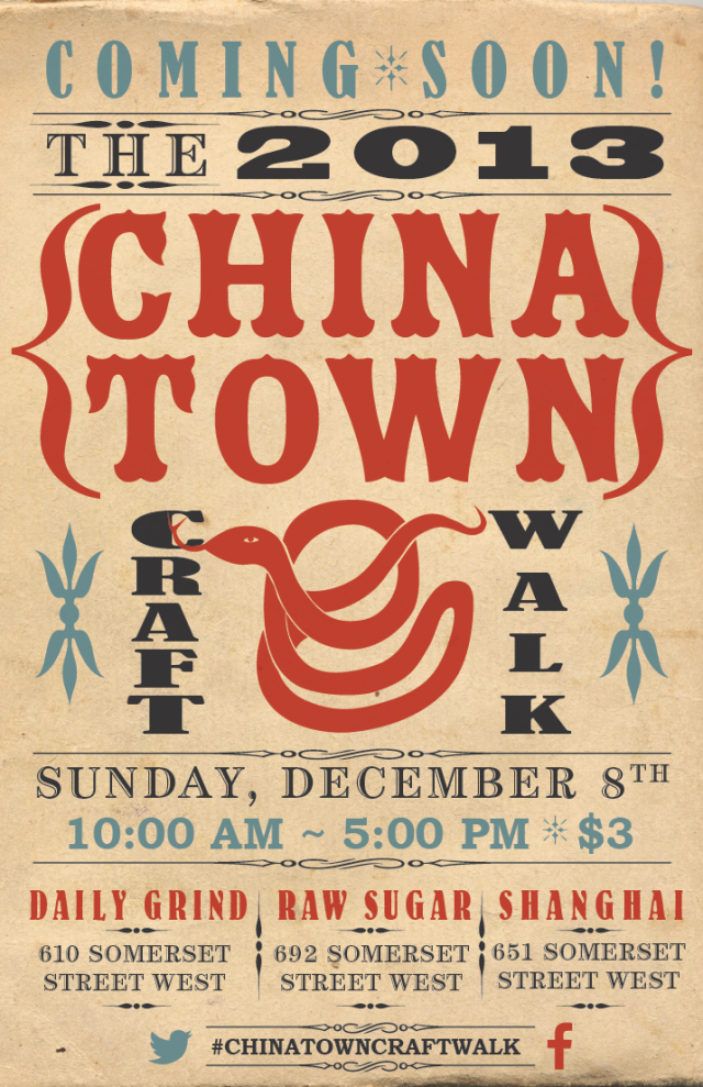 Chinatown Craft  Walk 2013