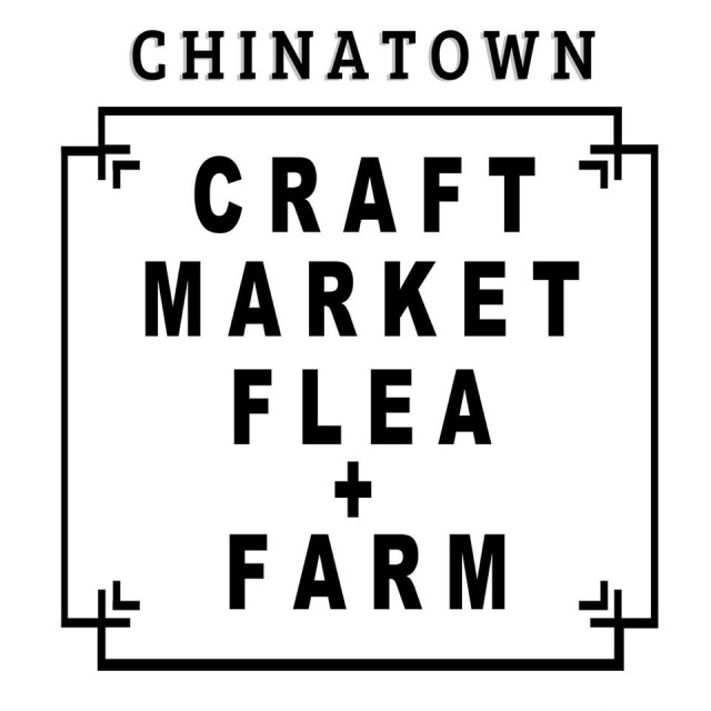 chinatown craft market flea farm poster