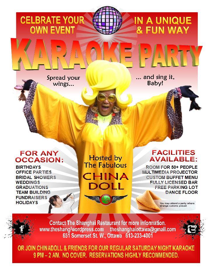 shanghai karaoke party book now poster jan2018