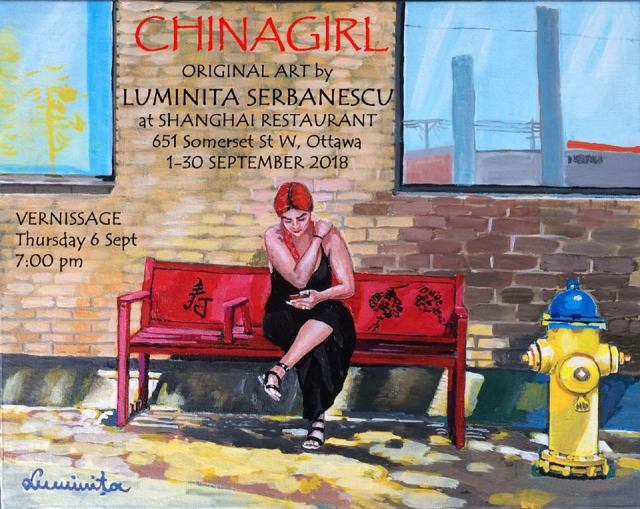 Luminita Lou Serbanescu artist at the shang