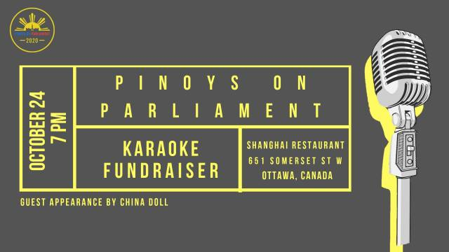 pinoys on parliamejnt karaoke fundraiser at the shanghai